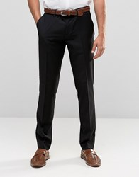 Sisley Slim Fit Suit Trousers Black 100
