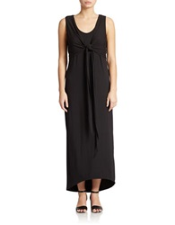 Context Knotted Maxi Dress Black