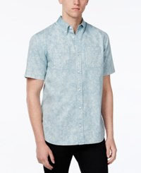 Wht Space Men's Acid Wash Short Sleeve Shirt Only At Macy's Blue