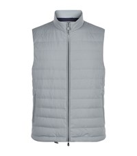 Brunello Cucinelli Lightweight Quilted Gilet Male Light Grey