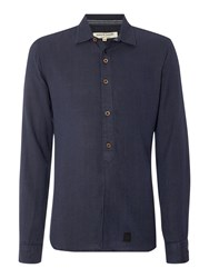 Anerkjendt Regular Fit Micro Dot Textured Shirt Navy