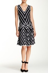 Yoana Baraschi Suku Basket Weave Fit And Flare Dress Black