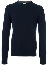 Moncler Classic Crew Neck Sweater Blue