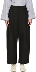Studio Nicholson Black Brunel Trousers