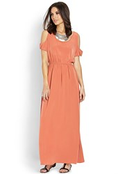 Forever 21 Contemporary Cutout Shoulder Maxi Dress