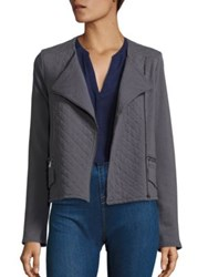 Joie Soft Jayla Cotton French Terry Moto Jacket Washed Caviar