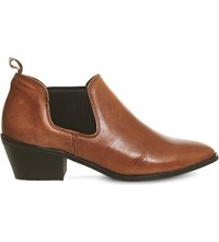 Office Festival Western Ankle Boot Tan Leather