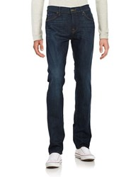 7 For All Mankind Straight Leg Faded Dark Wash Jeans Manchester