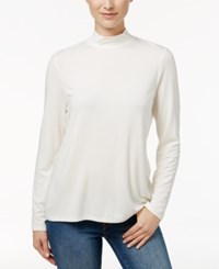 Charter Club Mock Neck Long Sleeve Top Only At Macy's Cloud