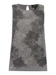 Episode Double Layer Lace Top Charcoal
