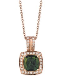 Le Vian Chrome Diopside 1 1 4 Ct. T.W. And Diamond 1 5 Ct. T.W. Pendant Necklace In 14K Rose Gold