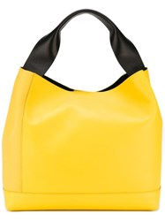 Marni Structured Tote Yellow And Orange