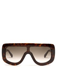 Celine Sunglasses Acetate Mask Sunglasses Tortoiseshell