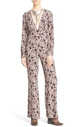 Women's Free People 'Some Like It Hot' Jumpsuit Almond Combo