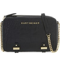 Kurt Geiger Abbey Cross Body Bag Black Croc