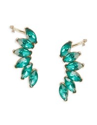 Abs By Allen Schwartz Green Marquise Stone Crawlers Emerald