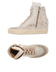 Cesare Paciotti 4Us Footwear High Tops And Trainers Women Beige