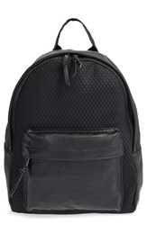Poverty Flats By Rian 'Sport' Faux Leather And Mesh Backpack