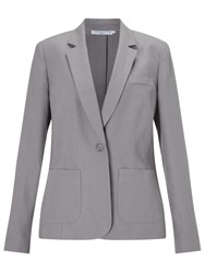 John Lewis Capsule Collection Linen One Button Jacket Grey