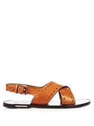 Isabel Marant Etoile Jerys Leather Sandals Tan