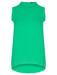 Oasis Roll Neck Tunic Top Mid Green