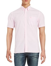 Brooks Brothers Broadcloth Checkered Sportshirt Pink