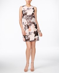 Vince Camuto Sleeveless Floral Print Sheath Dress Light Pink Gray