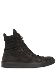 The Last Conspiracy Leather High Top Sneakers W Zip