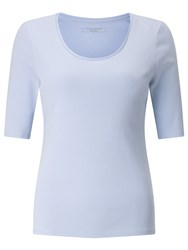 John Lewis Half Sleeve Scoop Neck T Shirt Cashmere Blue