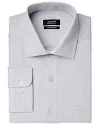 Alfani Men's Classic Fit Performance Silver Zig Zag Textured Dress Shirt Only At Macy's