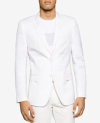 Calvin Klein Men's Slim Fit White Blazer