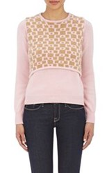 Alexander Lewis Layered Sweater Pink