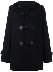 Mcq By Alexander Mcqueen Short Duffle Coat Black