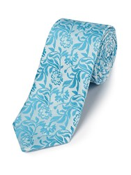 Skopes Fancy Polyester Tie Turquoise