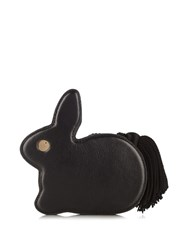Hillier Bartley Bunny Leather Clutch Black