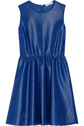 Sandro Rollanda Coated Mesh Mini Dress Blue
