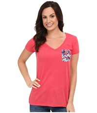 Rock And Roll Cowgirl Short Sleeve Knit 49T7247 Hot Pink Women's Short Sleeve Pullover
