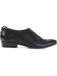 Pantanetti Contrasting Toe Cap Loafers Black