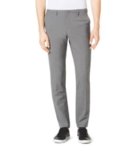 Michael Kors Slim Fit Wool Trousers Banker Grey