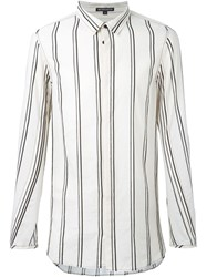 Ann Demeulemeester Striped Oversized Shirt Nude And Neutrals