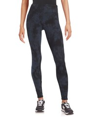 Calvin Klein Tie Dye Stretch Leggings Indigo Heather
