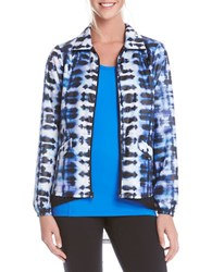 Karen Kane Blurred Lines Active Jacket Blue
