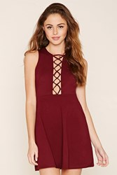 Forever 21 Crisscross Fit And Flare Dress
