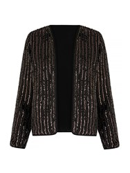 Mela Loves London Sequin Embellished Jacket Black