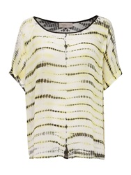 Label Lab Tie Dye Woven Top With Contrast Binding Multi Coloured