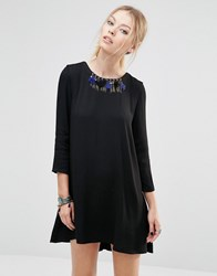 See U Soon Shift Dress With Necklace Detail Black