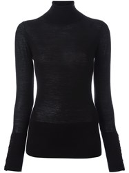 Steffen Schraut Fine Knit Turtleneck Jumper Black