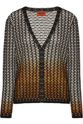 Missoni Ombre Crochet Knit Cardigan Black