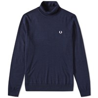 Fred Perry Merino Roll Neck Knit Blue