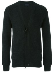 Lanvin Zipped Up Cardigan Grey